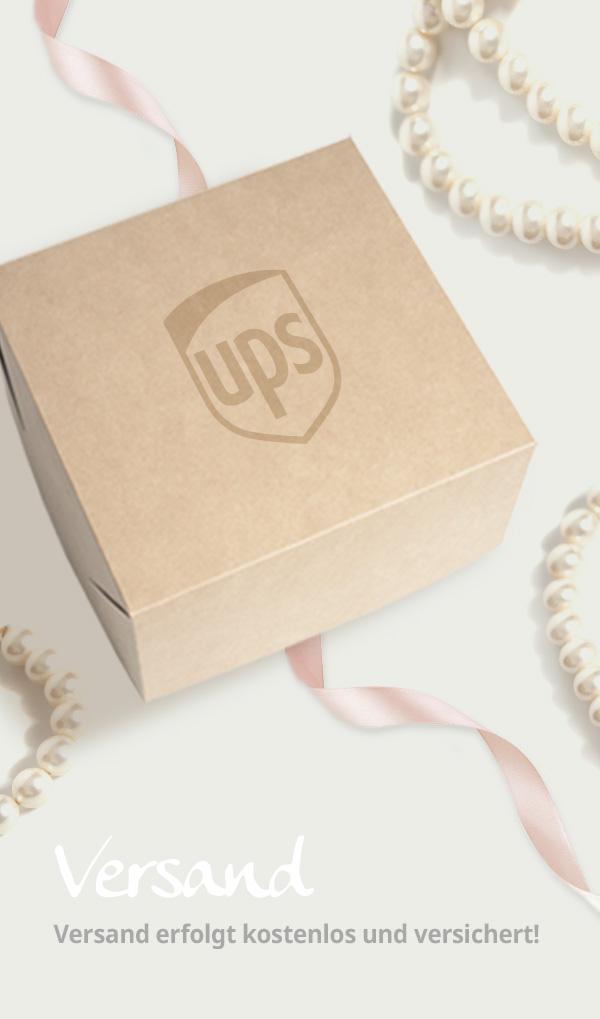 kostenloser und versicherter Versand mit UPS